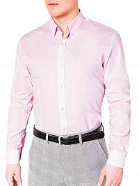 Elegantná košeľa v ružovej farbe k219