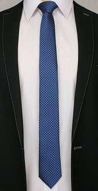 Elegantná kvietkovaná kravata granátová