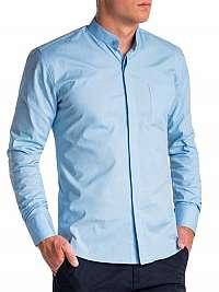 Elegantná modrá košeľa k508