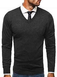 Elegantný pánsky sveter BRUNO LEONI M007 grafitový