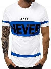 Fantastické biele pánske tričko JS/SS100700