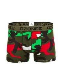 Farebné maskáčové boxerky OZONEE 0953 - L