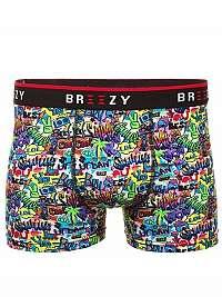 Farebné vzorované pánske boxerky B/88005