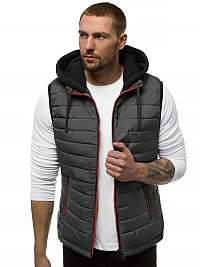 Grafitová vesta s kapucňou N/6102Z