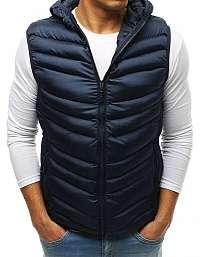 Granátová módna prešívaná vesta s kapucňou