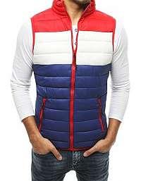 Granátová vesta bez kapucne s červeným kontrastom