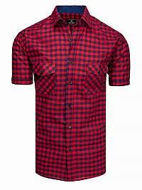 Granátovo-červená károvaná košeľa
