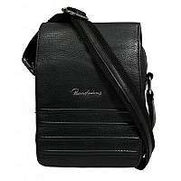 Jedinečná čierna kožená taška
