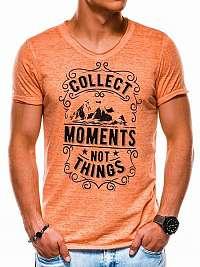 Jedinečné pánske tričko oranžové s1148