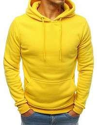 Jednoduchá žltá mikina s kapucňou