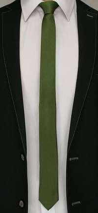 Jednofarebná zelená kravata