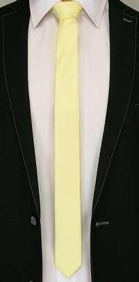 Jemná žltá pánska kravata