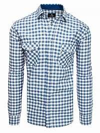 Károvaná košeľa modro-biela