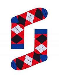 Kárované červené ponožky U18