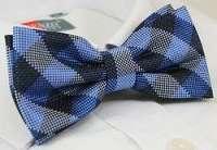 Károvaný modrý pánsky motýlik