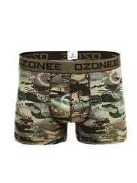 Khaki boxerky s vojenským vzorom OZONEE 0953 - XL