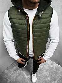 Khaki vesta s kapucňou N/6709