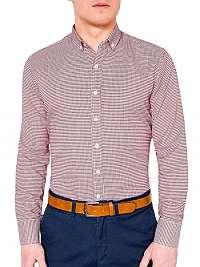 Kockovaná košeľa v červenej farbe k400