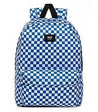 Kockovaný modrý ruksak VANS MN OLD SKOOL III BAC VICTORIA BLU