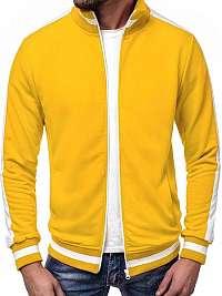Krásna pánska mikina v žltej farbe A/1008
