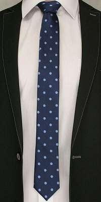 Kvietkovaná modrá kravata