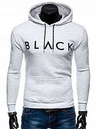 Mikina s kapucňou v bielej farbe B1170