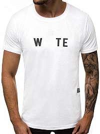 Moderné biele tričko s nápisom  O/1271