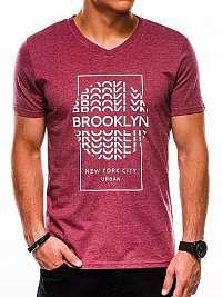 Moderné bordové tričko s1152