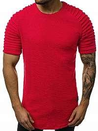 Moderné červené pánske tričko O/1248