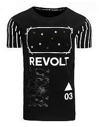 Moderné čierne tričko s potlačou