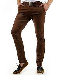 Módne hnedé pánske nohavice