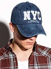 Modrá šiltovka s potlačou NYC H062