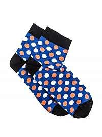 Modré bodkované členkové ponožky U09