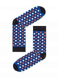 Modré bodkované pánske ponožky U21