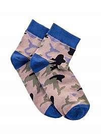 Modré maskáčové ponožky U10