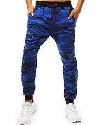 Modré maskáčové trendy joggery