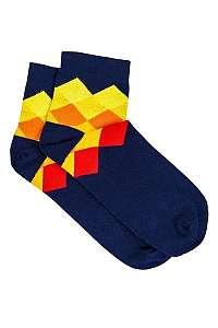 Modré ponožky s farebným vzorom U17