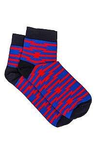 Modré vzorované ponožky U13