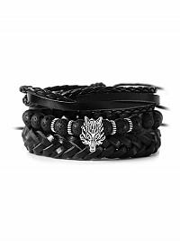 Nádherný vrstvený náramok v čiernej farbe D429