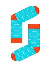 Nebesky modré ponožky s fúzmi U20