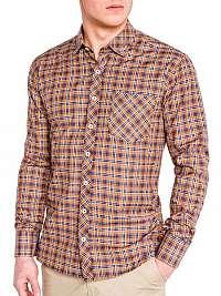 Oranžová košeľa v módnom prevedení k421