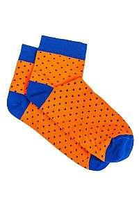 Oranžové bodkované ponožky U14