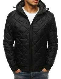Originálna bunda s kapucňou čierna