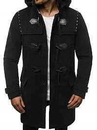 Originálny čierny pánsky kabát O/88870