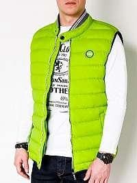 Pánska prešívaná vesta zelená v40