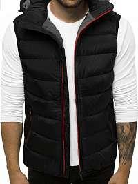 Pohodlná čierno-červená vesta N/6505