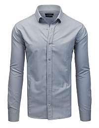 Pohodlná šedá košeľa s dlhým rukávom