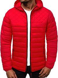 Prechodná červená pánska bunda JS/LY1010