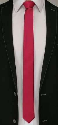 Rubínovo-červená pánska kravata