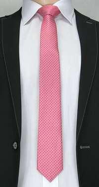 Ružová vzorovaná pánska kravata